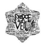 Pierce The Veil Music Band Group Fabric Art Cloth Poster Snowflake Ornament (2-Side) Back