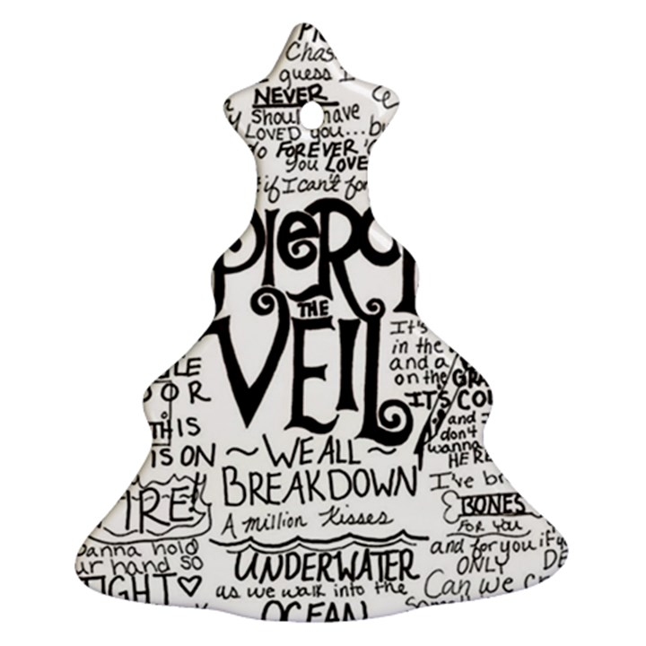 Pierce The Veil Music Band Group Fabric Art Cloth Poster Christmas Tree Ornament (2 Sides)