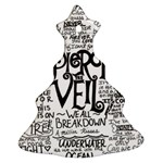 Pierce The Veil Music Band Group Fabric Art Cloth Poster Christmas Tree Ornament (2 Sides) Back