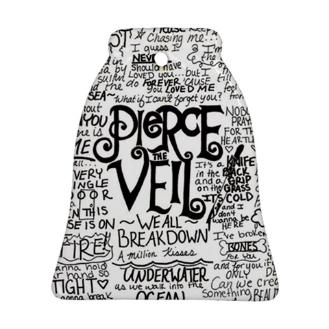 Pierce The Veil Music Band Group Fabric Art Cloth Poster Bell Ornament (2 Sides)