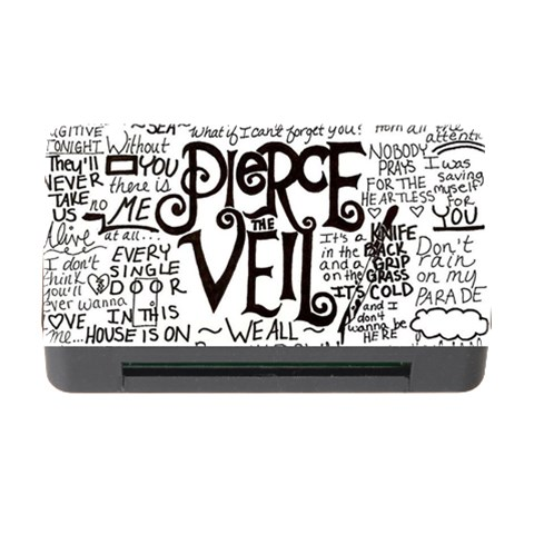 Pierce The Veil Music Band Group Fabric Art Cloth Poster Memory Card Reader with CF