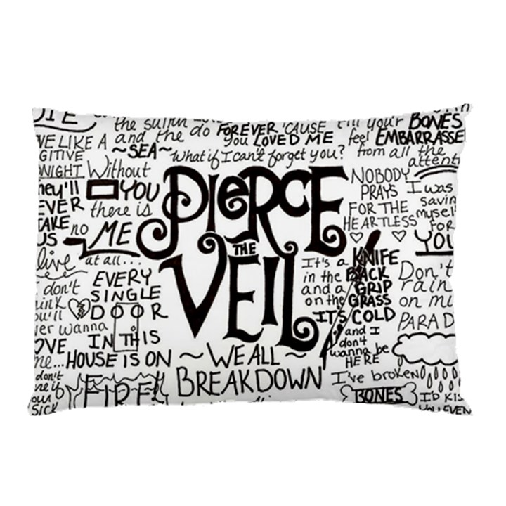 Pierce The Veil Music Band Group Fabric Art Cloth Poster Pillow Case (Two Sides)