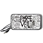 Pierce The Veil Music Band Group Fabric Art Cloth Poster Portable Speaker (Black)  Front