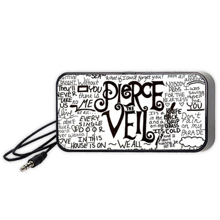 Pierce The Veil Music Band Group Fabric Art Cloth Poster Portable Speaker (Black)