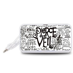 Pierce The Veil Music Band Group Fabric Art Cloth Poster Portable Speaker (white)
