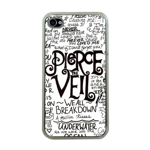 Pierce The Veil Music Band Group Fabric Art Cloth Poster Apple iPhone 4 Case (Clear)