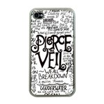 Pierce The Veil Music Band Group Fabric Art Cloth Poster Apple iPhone 4 Case (Clear) Front