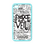 Pierce The Veil Music Band Group Fabric Art Cloth Poster Apple iPhone 4 Case (Color) Front