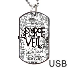 Pierce The Veil Music Band Group Fabric Art Cloth Poster Dog Tag USB Flash (Two Sides)