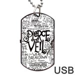 Pierce The Veil Music Band Group Fabric Art Cloth Poster Dog Tag USB Flash (Two Sides)  Back