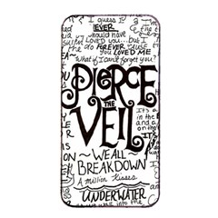 Pierce The Veil Music Band Group Fabric Art Cloth Poster Apple Iphone 4/4s Seamless Case (black)