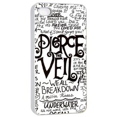 Pierce The Veil Music Band Group Fabric Art Cloth Poster Apple Iphone 4/4s Seamless Case (white)