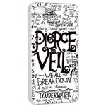 Pierce The Veil Music Band Group Fabric Art Cloth Poster Apple iPhone 4/4s Seamless Case (White) Front