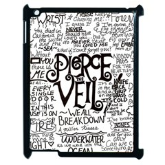 Pierce The Veil Music Band Group Fabric Art Cloth Poster Apple iPad 2 Case (Black)