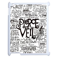 Pierce The Veil Music Band Group Fabric Art Cloth Poster Apple iPad 2 Case (White)