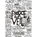 Pierce The Veil Music Band Group Fabric Art Cloth Poster BOY 3D Greeting Card (7x5) Inside