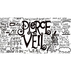 Pierce The Veil Music Band Group Fabric Art Cloth Poster YOU ARE INVITED 3D Greeting Card (8x4)