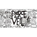 Pierce The Veil Music Band Group Fabric Art Cloth Poster Twin Heart Bottom 3D Greeting Card (8x4) Front