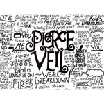 Pierce The Veil Music Band Group Fabric Art Cloth Poster LOVE Bottom 3D Greeting Card (7x5) Back