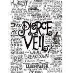 Pierce The Veil Music Band Group Fabric Art Cloth Poster WORK HARD 3D Greeting Card (7x5) Inside