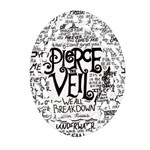 Pierce The Veil Music Band Group Fabric Art Cloth Poster Oval Filigree Ornament (2-Side)  Front