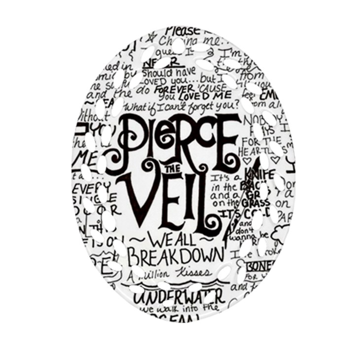 Pierce The Veil Music Band Group Fabric Art Cloth Poster Oval Filigree Ornament (2-Side)