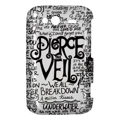 Pierce The Veil Music Band Group Fabric Art Cloth Poster HTC Wildfire S A510e Hardshell Case