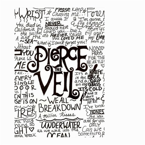 Pierce The Veil Music Band Group Fabric Art Cloth Poster Small Garden Flag (Two Sides)