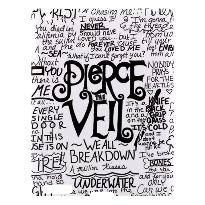 Pierce The Veil Music Band Group Fabric Art Cloth Poster Apple iPad 3/4 Hardshell Case