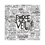 Pierce The Veil Music Band Group Fabric Art Cloth Poster Acrylic Tangram Puzzle (6  x 6 ) Front