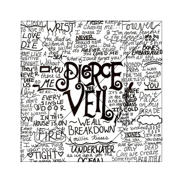 Pierce The Veil Music Band Group Fabric Art Cloth Poster Acrylic Tangram Puzzle (6  x 6 )