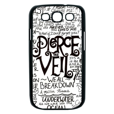 Pierce The Veil Music Band Group Fabric Art Cloth Poster Samsung Galaxy S III Case (Black)