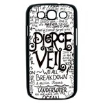 Pierce The Veil Music Band Group Fabric Art Cloth Poster Samsung Galaxy S III Case (Black) Front