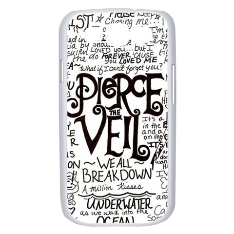 Pierce The Veil Music Band Group Fabric Art Cloth Poster Samsung Galaxy S III Case (White)