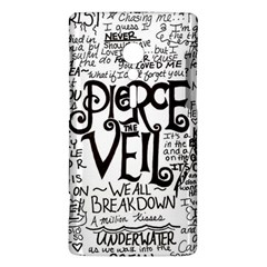 Pierce The Veil Music Band Group Fabric Art Cloth Poster Sony Xperia ion