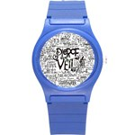 Pierce The Veil Music Band Group Fabric Art Cloth Poster Round Plastic Sport Watch (S) Front