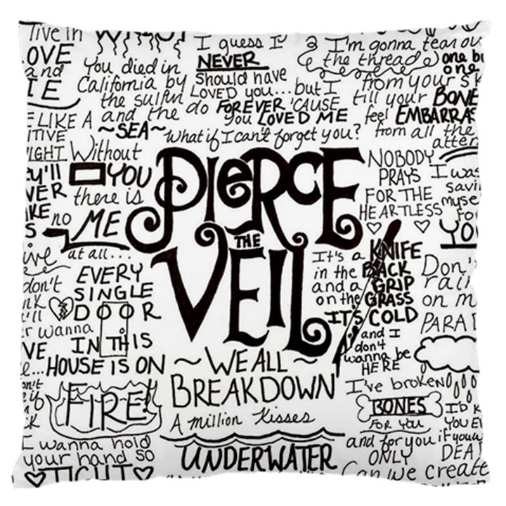 Pierce The Veil Music Band Group Fabric Art Cloth Poster Large Cushion Case (Two Sides)
