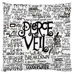 Pierce The Veil Music Band Group Fabric Art Cloth Poster Large Cushion Case (Two Sides) Back