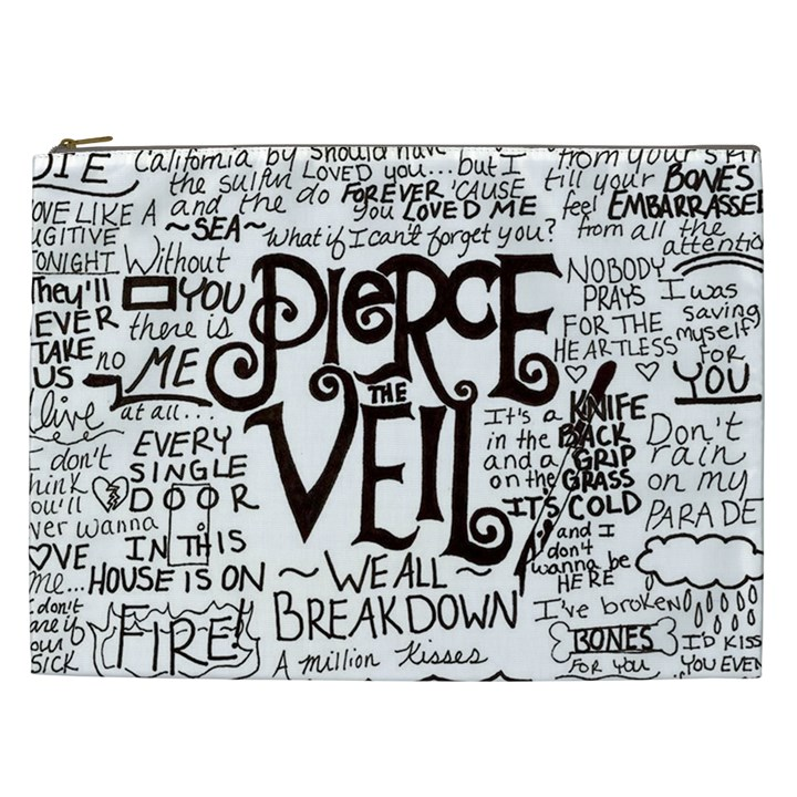 Pierce The Veil Music Band Group Fabric Art Cloth Poster Cosmetic Bag (XXL)