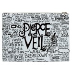 Pierce The Veil Music Band Group Fabric Art Cloth Poster Cosmetic Bag (XXL)  Back