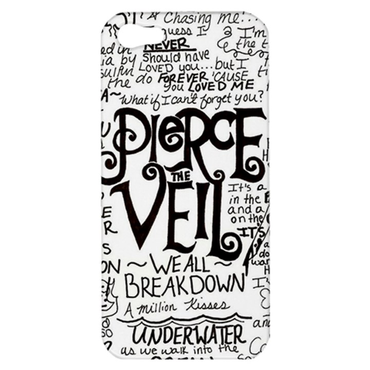 Pierce The Veil Music Band Group Fabric Art Cloth Poster Apple iPhone 5 Hardshell Case