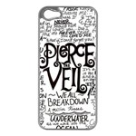 Pierce The Veil Music Band Group Fabric Art Cloth Poster Apple iPhone 5 Case (Silver) Front