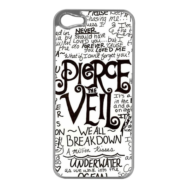 Pierce The Veil Music Band Group Fabric Art Cloth Poster Apple iPhone 5 Case (Silver)