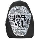 Pierce The Veil Music Band Group Fabric Art Cloth Poster Backpack Bag Front