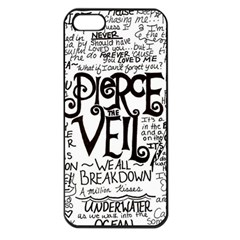 Pierce The Veil Music Band Group Fabric Art Cloth Poster Apple Iphone 5 Seamless Case (black)