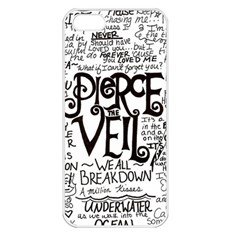 Pierce The Veil Music Band Group Fabric Art Cloth Poster Apple iPhone 5 Seamless Case (White)