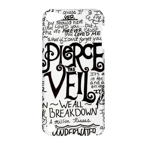 Pierce The Veil Music Band Group Fabric Art Cloth Poster Apple iPod Touch 5 Hardshell Case