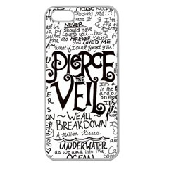 Pierce The Veil Music Band Group Fabric Art Cloth Poster Apple Seamless Iphone 5 Case (clear)