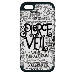 Pierce The Veil Music Band Group Fabric Art Cloth Poster Apple Iphone 5 Hardshell Case (pc+silicone)