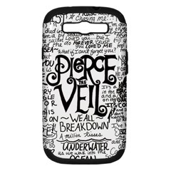Pierce The Veil Music Band Group Fabric Art Cloth Poster Samsung Galaxy S III Hardshell Case (PC+Silicone)